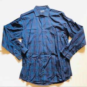 Kenneth Cole Reaction Mens Casual Dress Shirt Slim